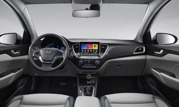 Interior view of the sedan