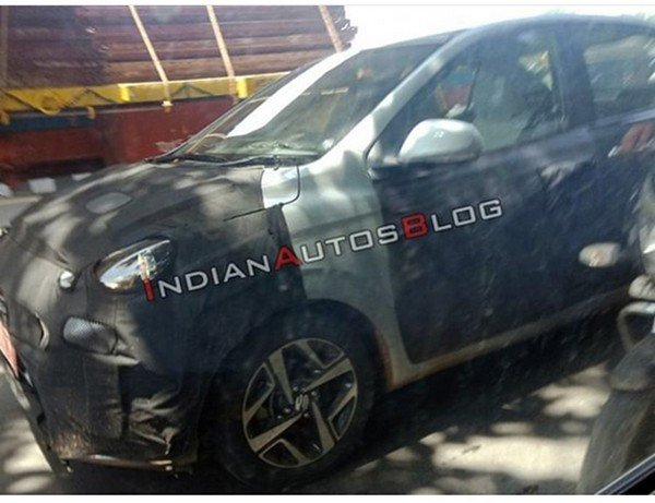 all-new hyundai aura camouflaged side angle