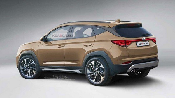 2021 hyundai tucson rear angle rendered