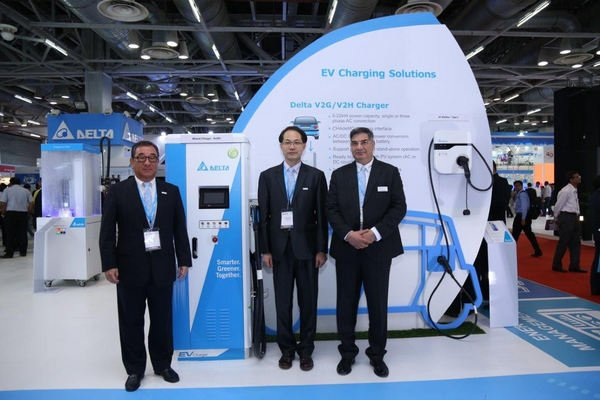 Front shot of the charging station
