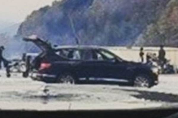 Side view of the SUV