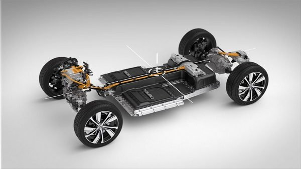 Chassis side of the Volvo XC40