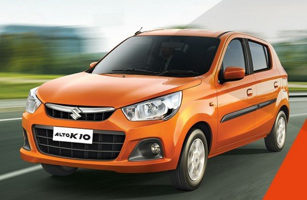 new 2019 maruti alto k10 orange front angle