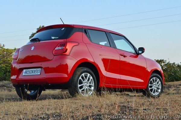 2019 maruti swift rear angle