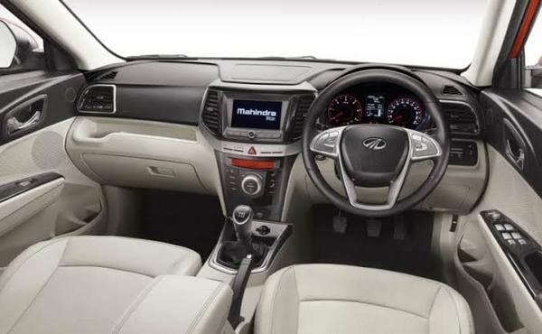 Interior view of Mahindra XUV300