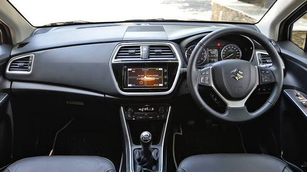 Inside view of the SUV