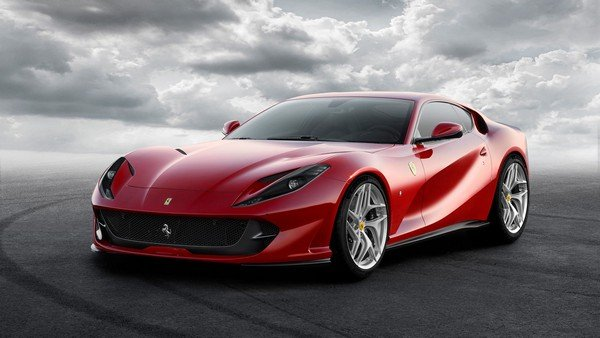 Fastest petrol cars in India - ferrari 812 superfast red front