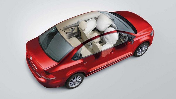 2019 vw vento red dual front airbags