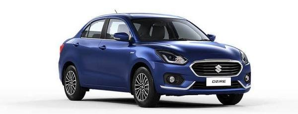 Front side view of Maruti Dzire