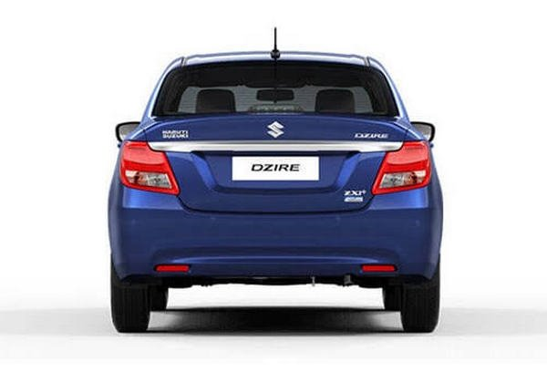Rear-end view of Maruti Dzire