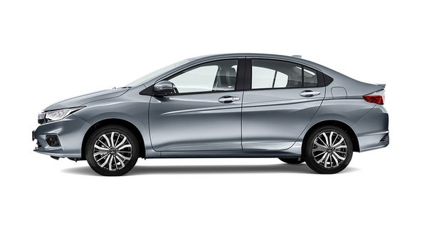 Side view of Honda City