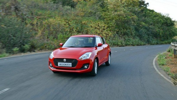 maruti swift 2018 red front angle