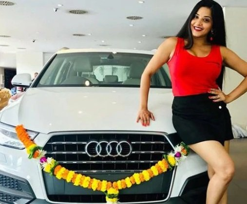 cars of Indian TV stars Monalisa Audi Q3