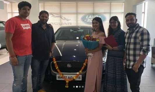 cars of Indian TV stars Shivangi Joshi Jaguar XF