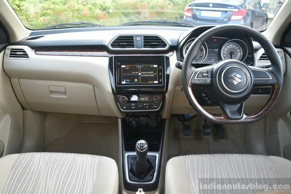 maruti suzuki dzire interior dashboard layout