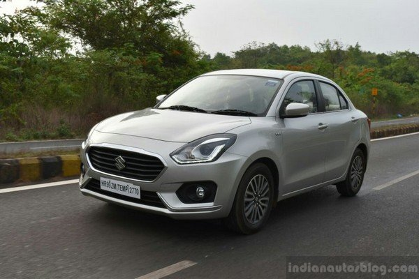 maruti dzire front three quarters left side