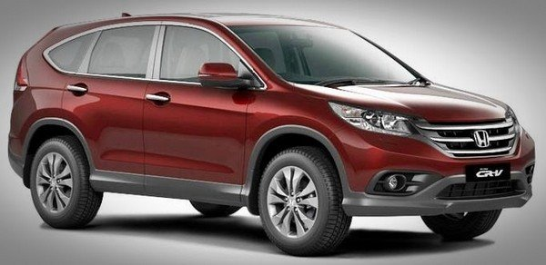 Honda CR-V red colour side angle