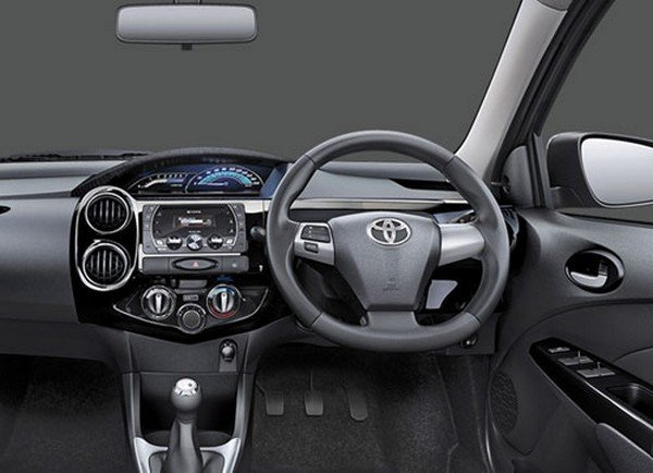 toyota etios cross interior dashboard layout