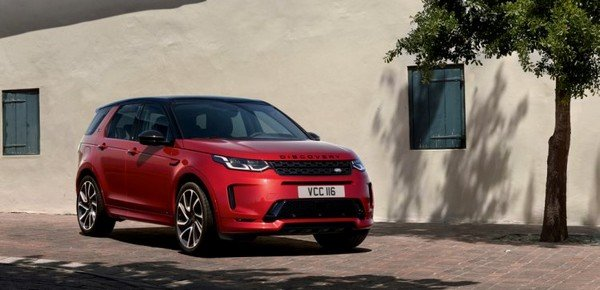 2020 land rover discovery sport red front angle