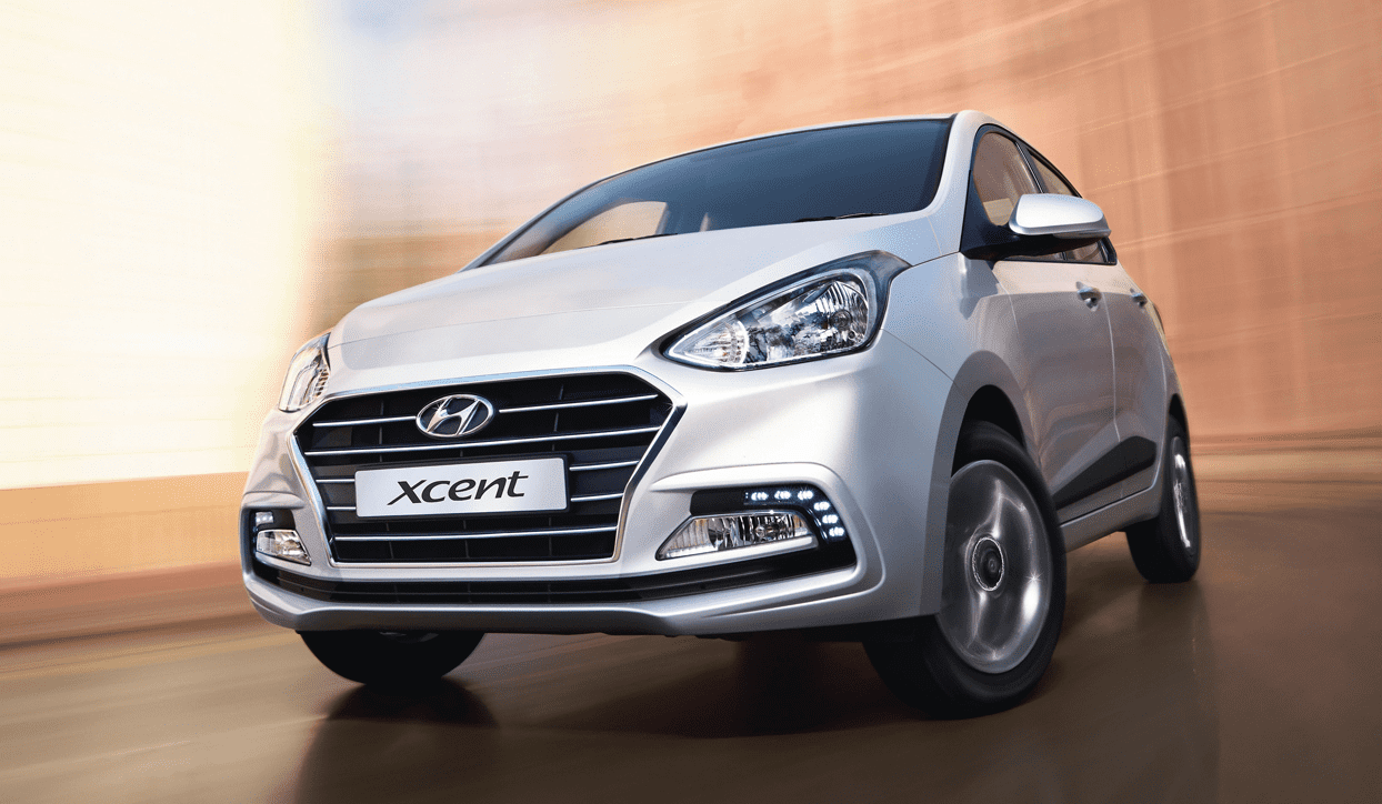 Hyundai Xcent front dynamic