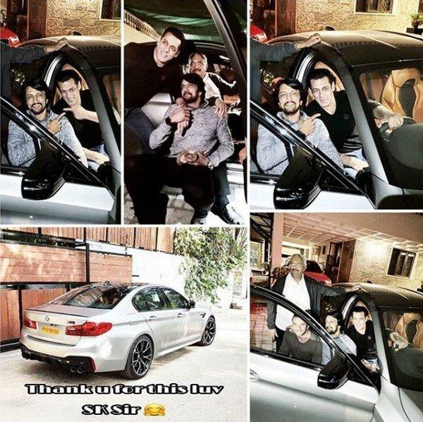salman khan car gift kiccha sudeep