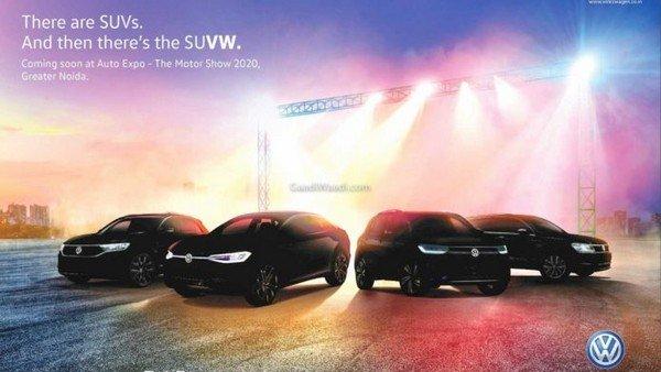 volkswagen a0 suv auto expo 2020 banner