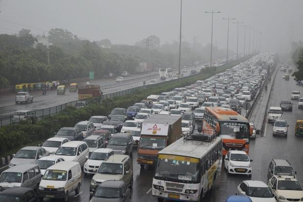 gurgaon traffic image