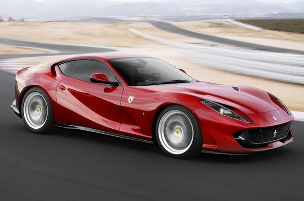 ferrari 812 superfast red front angle