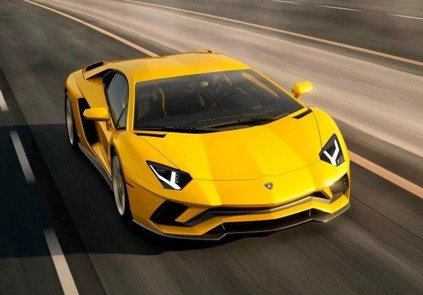 lamborghini aventador S yellow front angle