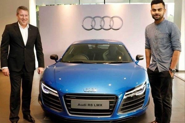 most expensive cars in India with owners - virat kohli with Audi R8 LMX