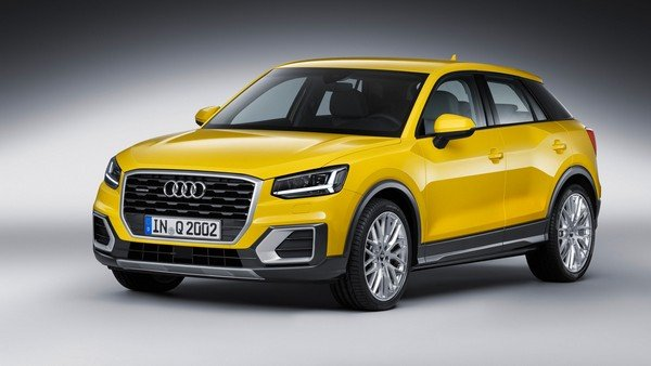 lucky car colour as per date of birth 2017 audi q2 yellow front angle