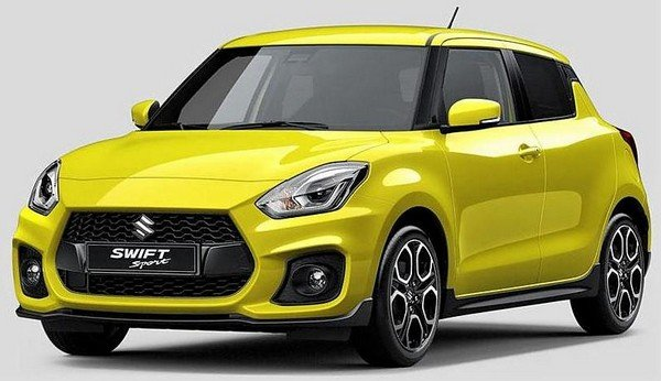 2018 maruti swift yellow front angle