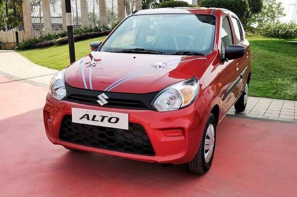 lucky car colour as per date of birth maruti alto 800 red front angle