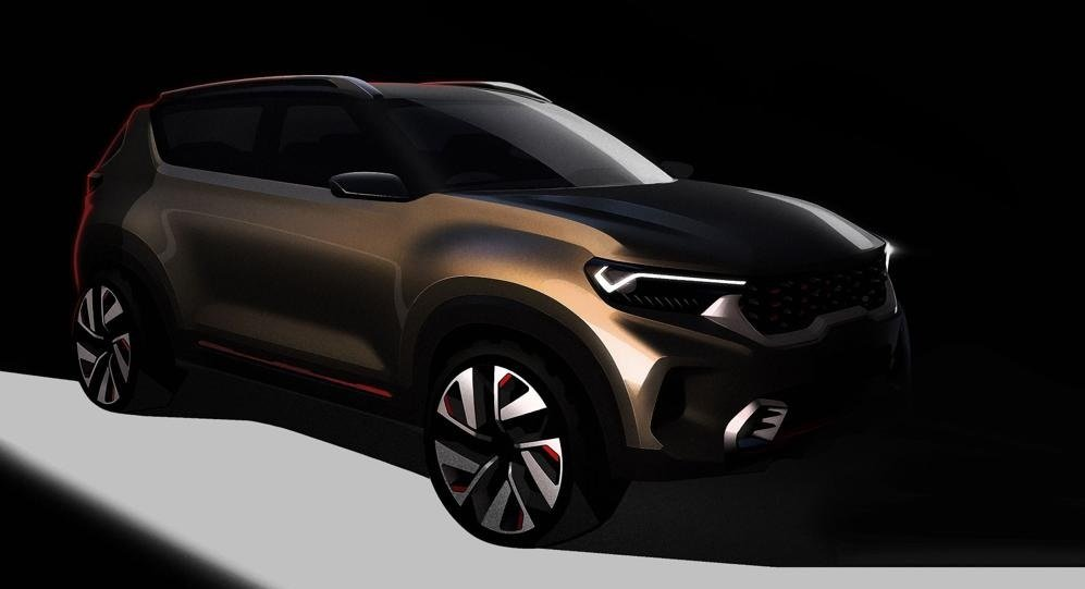 Upcoming Kia compact SUV front