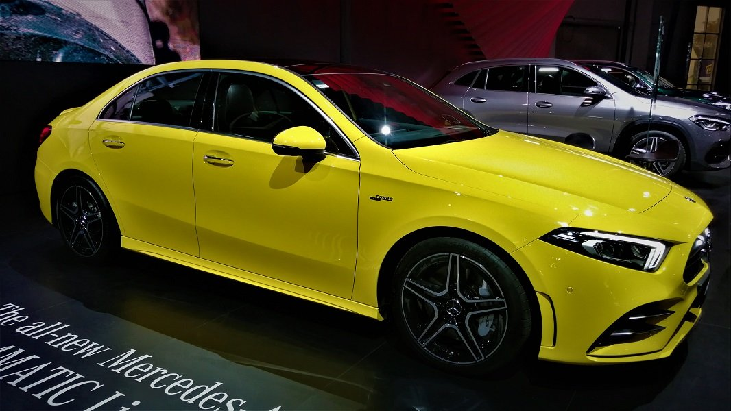 Mercedes-Benz A-Class Limousine Showcased At Auto Expo 2020