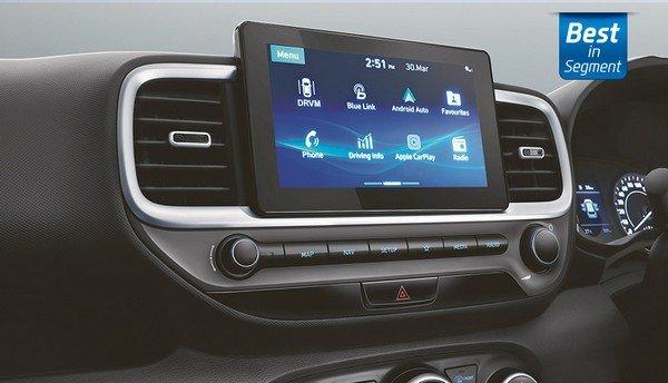 Hyundai Venue touchscreen infotainment system