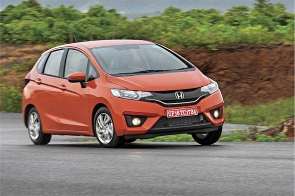 2018 honda jazz orange front angle