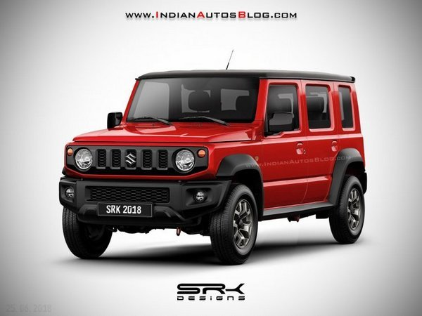 Front side look of the Jimny