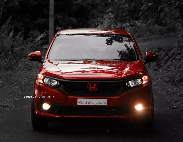 modified honda amaze red colour