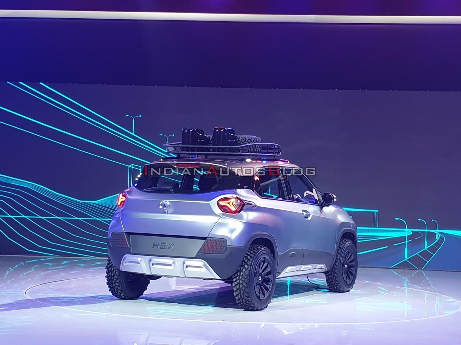 Tata HBX - rear angle