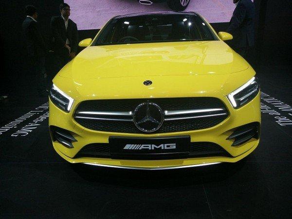 2020 mercedes-benz a-class sedan front angle
