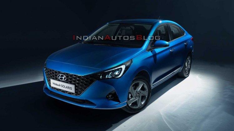2020 Hyundai Verna (facelift) Spied Alongside Outgoing Model