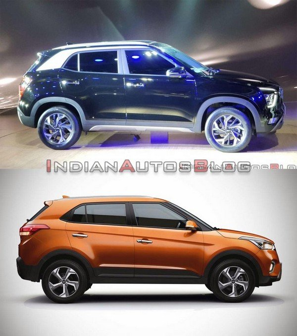 old creta vs new creta 2021 side profile