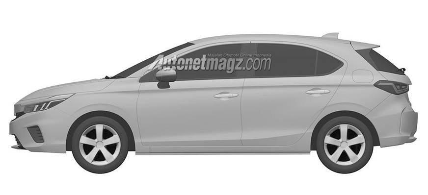 upcoming Honda City hatchback side profile