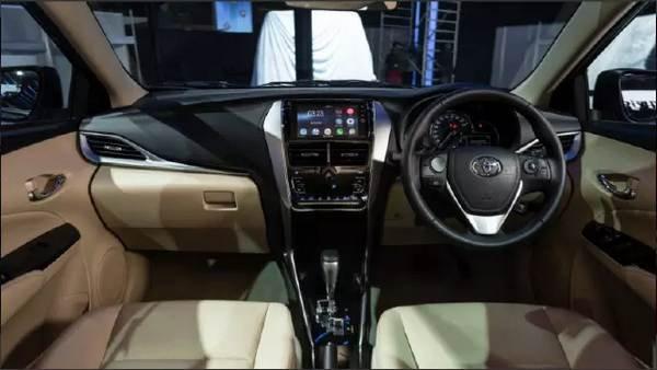 Interior shot of the car