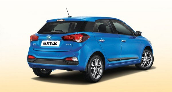 hyundai elite i20 rear angle