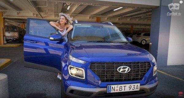 Hyundai venue australia front angle