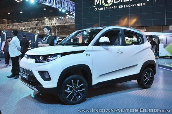 Front side look of the electric SUV