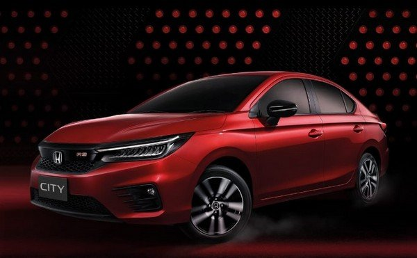 2020 Honda City red colour side angle