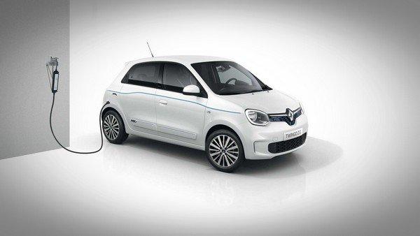 2020 renault twingo z.e white charging
